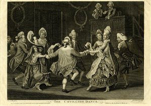 James Caldwell, after John Collet. The Cotillion Dance. 1771. © Trustees of the British Museum