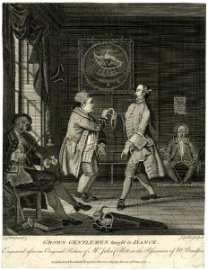 [After John Collet. Grown gentlemen taught to dance. 1767. © Trustees of the British Museum]