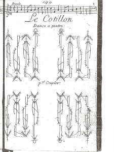 Le Cotillon (1705). First plate. Opening Change.