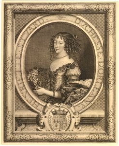 Madame, Duchesse d'Orleans.Nicholas de Larmessin after Pierre Mignard? c1661-1670. © Trustees of the British Museum