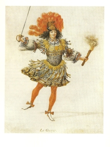 Louis XIV as La Guerre in Les Nopces de Pélée et de Thétis (1654). Workshop of Henry de Gissey.