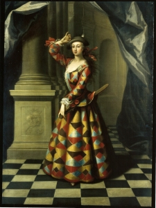 John Ellys. Hester Santlow as Harlequine. c.1725