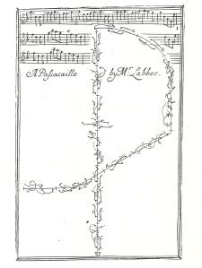 L'Abbé's Passacaille from Pemberton's Essay (1711), plate 1.