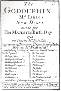 Mr Isaac. The Godolphin (London, 1714). Title page.