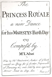 L'Abbé. The Princess Royale (London, [1715]), title page.