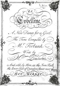 La Cybelline (1719). Title page.
