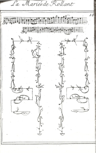 Pecour. La Mariée, notated by Rameau. First plate