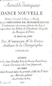 Pecour. Aimable Vainqueur (Paris, 1701), Title page