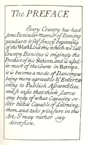 John Essex, Preface, For the Further Improvement of Dancing (1710), first page
