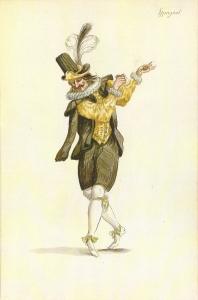 Dancing Spaniard from designs for Le Ballet de la Nuit, 1653