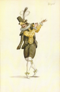 Dancing Spaniard from designs for Le Ballet de la Nuit, 1653