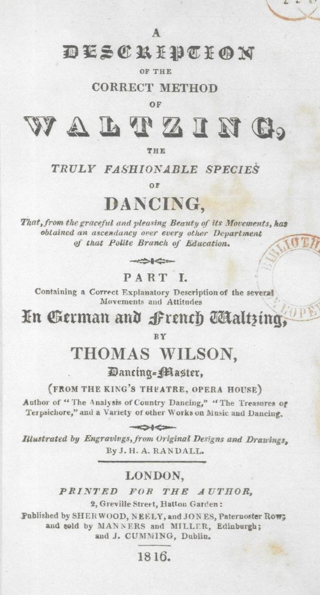 Wilson Waltzing Title Page