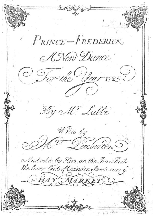 Prince Frederick Title Page