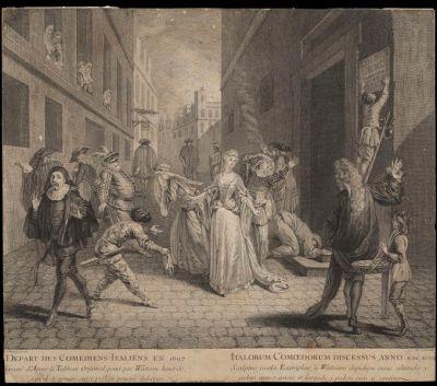 Watteau Departure of the Comedians