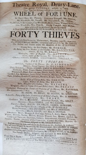 Forty Thieves DL 1806