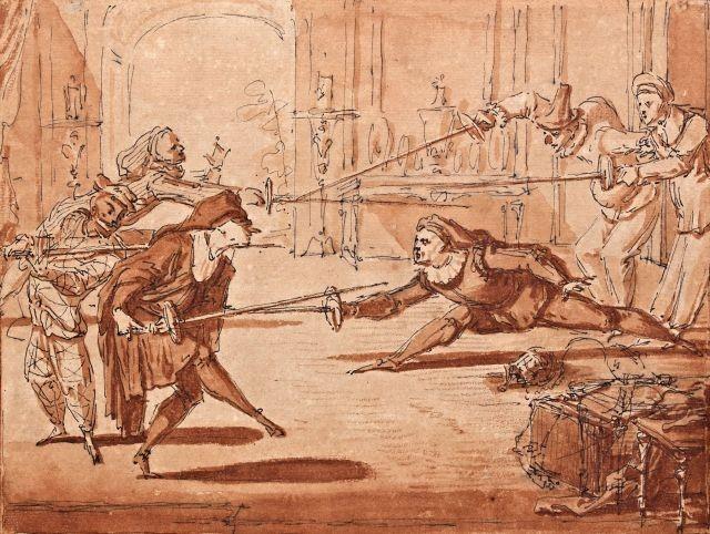 Gillot Arlequin Scaramouch combat