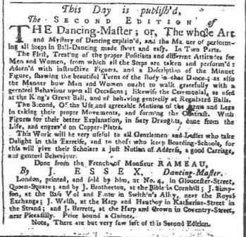 Daily Advertiser 12 Jan 1744