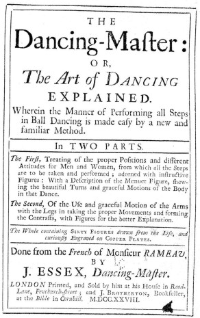 Essex Dancing Master 1728 Title Page (2)