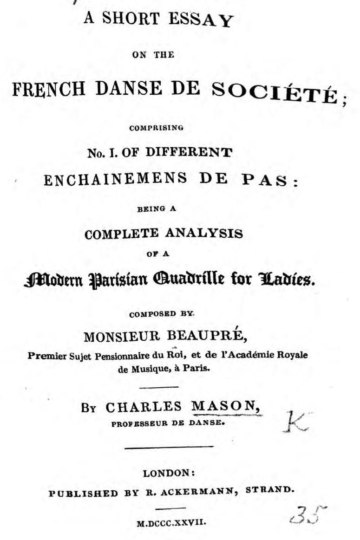 Mason Danse de Societe Title Page (2)